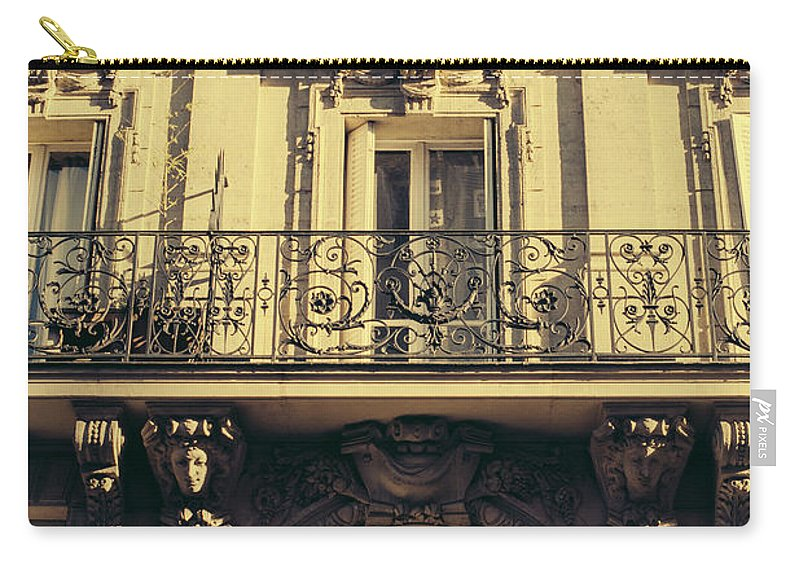 Sunset Carry-all Pouch featuring the photograph Architecture In Paris by Pati Photography