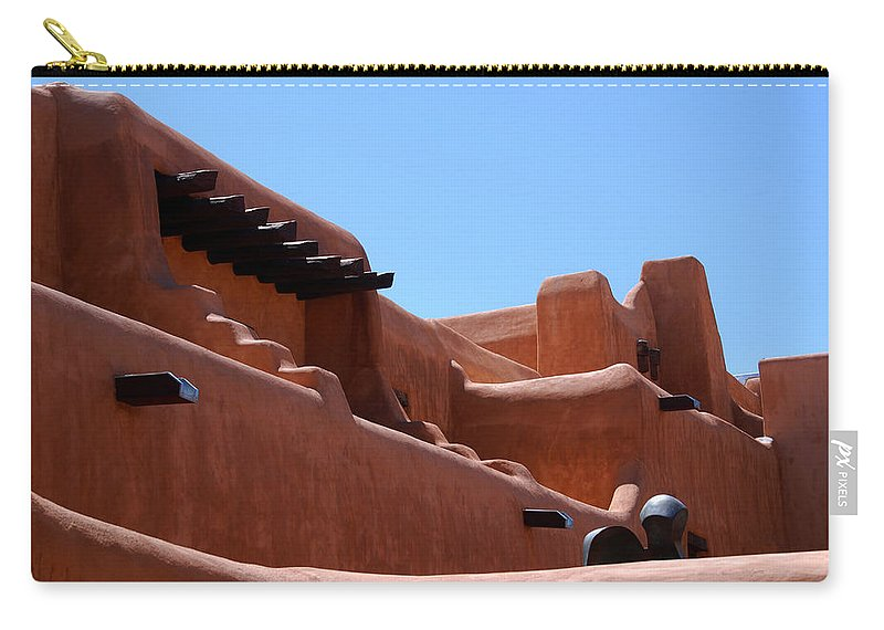 Photography Carry-all Pouch featuring the photograph Architecture In Santa Fe by Susanne Van Hulst