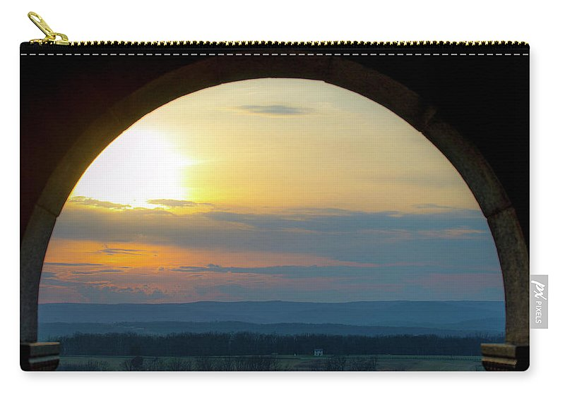 Arch Carry-all Pouch featuring the photograph Archway Landscape by Ron Valenzia
