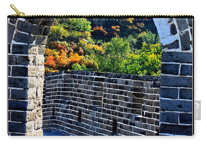 The Great Wall Of China Carry-all Pouch featuring the photograph Archway To Great Wall by Carol Groenen