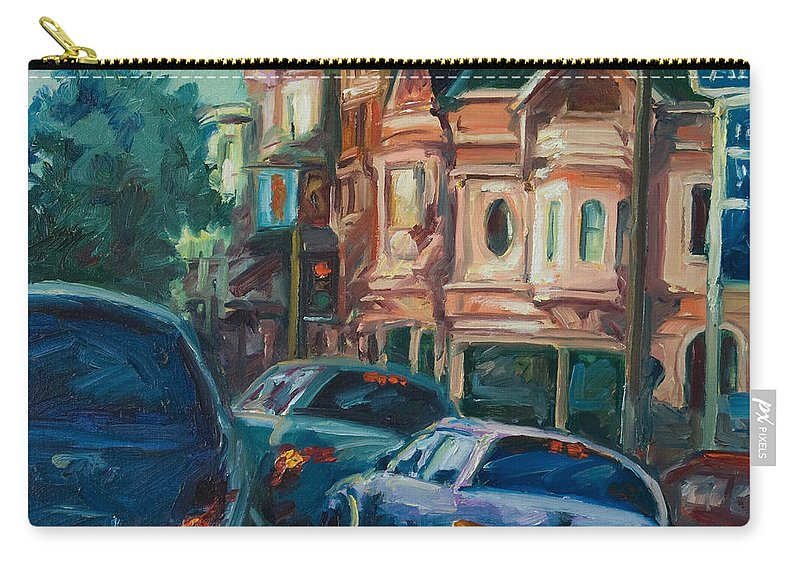 Trees Carry-all Pouch featuring the painting Arco by Rick Nederlof