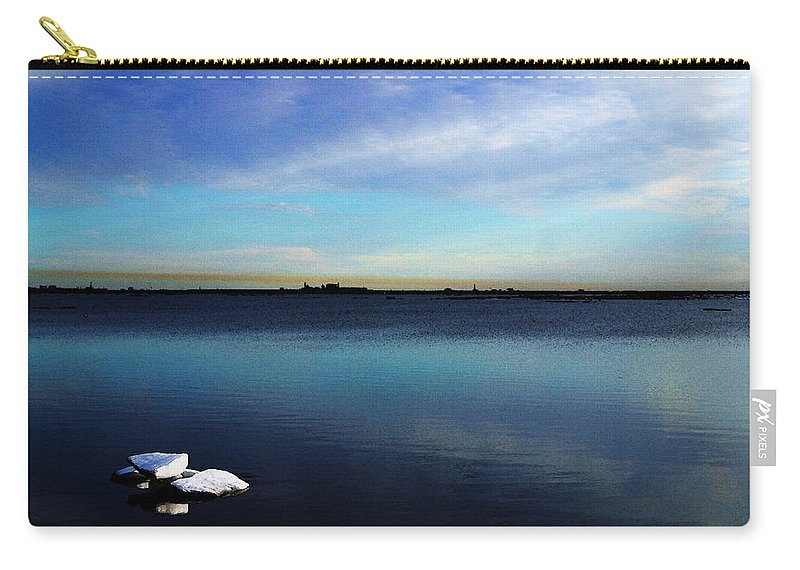 Digital Art Carry-all Pouch featuring the digital art Arctic Ice by Anthony Jones