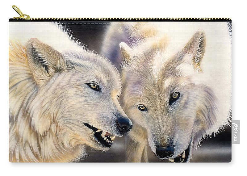 Acrylics Carry-all Pouch featuring the painting Arctic Pair by Sandi Baker