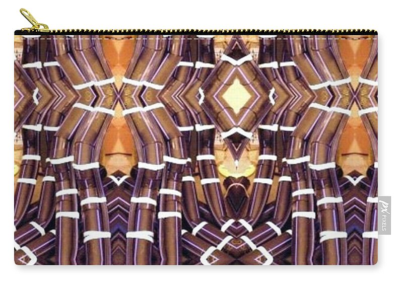 Abstract Carry-all Pouch featuring the digital art Arctic Pipe by Ron Bissett