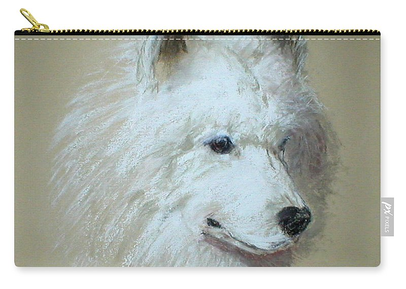 Dog Carry-all Pouch featuring the drawing Arctic Serenity by Cori Solomon