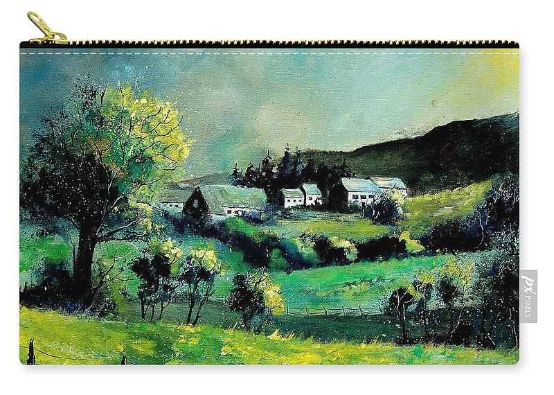 Spring Carry-all Pouch featuring the painting Ardennes 79 by Pol Ledent