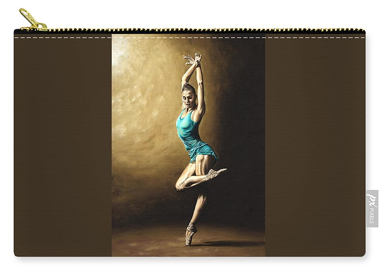 Dance Carry-all Pouch featuring the painting Ardent Dancer by Richard Young