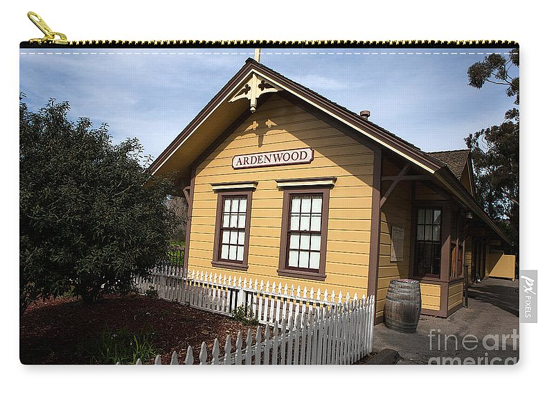 Ardenwood Historic Farm Carry-all Pouch featuring the photograph Ardenwood Historic Farm Railroad Station by Jason O Watson