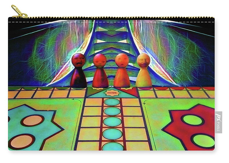 Game Carry-all Pouch featuring the digital art Are You Game by John Haldane