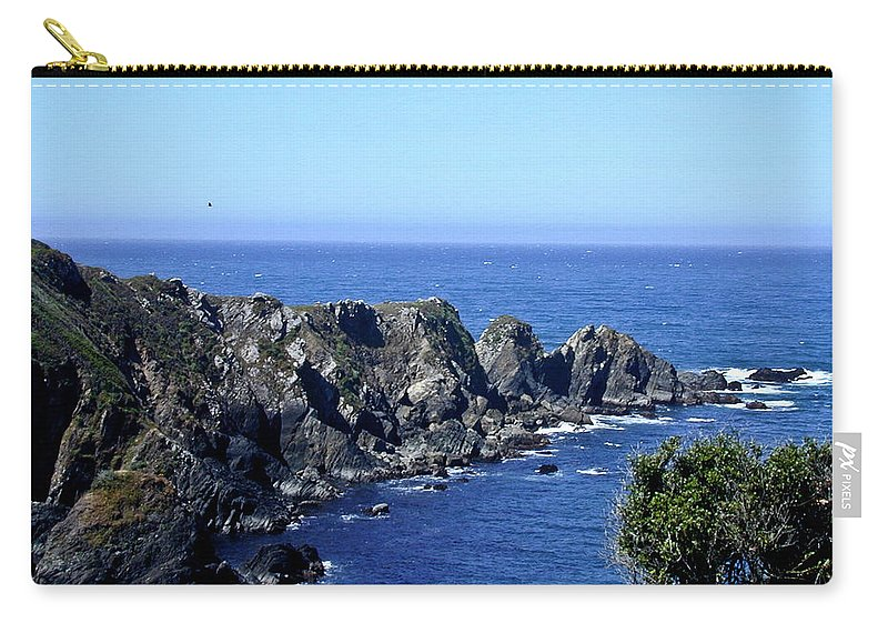 Arena Carry-all Pouch featuring the photograph Arena Point California by Douglas Barnett