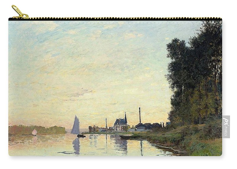 Claude Monet (french Carry-all Pouch featuring the painting Argenteuil by MotionAge Designs