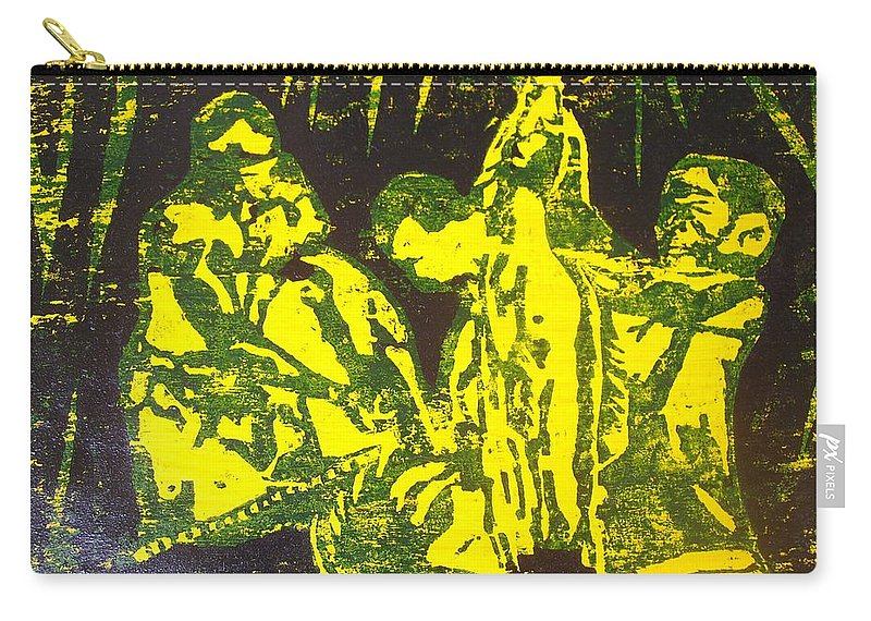 Festival Carry-all Pouch featuring the mixed media Argungun Festival 2 by Olaoluwa Smith