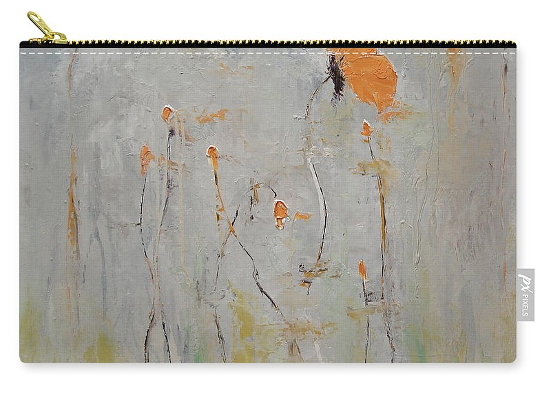 Floral Carry-all Pouch featuring the painting Aria by Barbara Andolsek