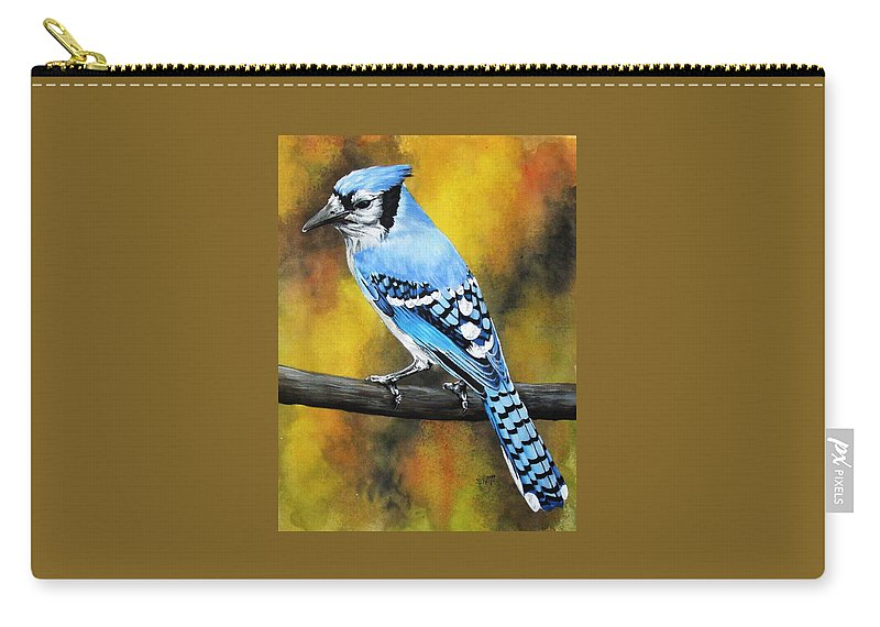 Common Bird Carry-all Pouch featuring the painting Aristocrat by Barbara Keith