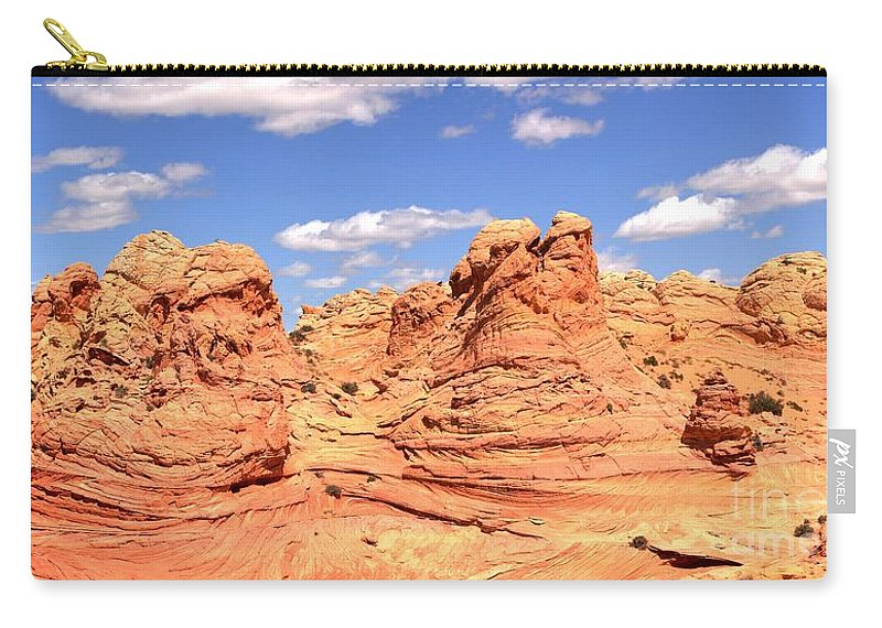 Vermilion Cliffs Panorama Carry-all Pouch featuring the photograph Arizona Candyland by Adam Jewell