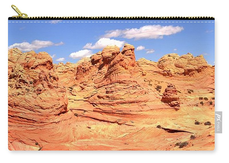 Vermilion Cliffs Panorama Carry-all Pouch featuring the photograph Arizona Desert Dreamscape by Adam Jewell