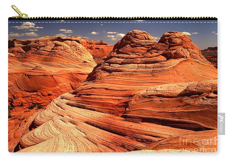 Coyote Buttes Carry-all Pouch featuring the photograph Arizona Desert Landscape by Adam Jewell