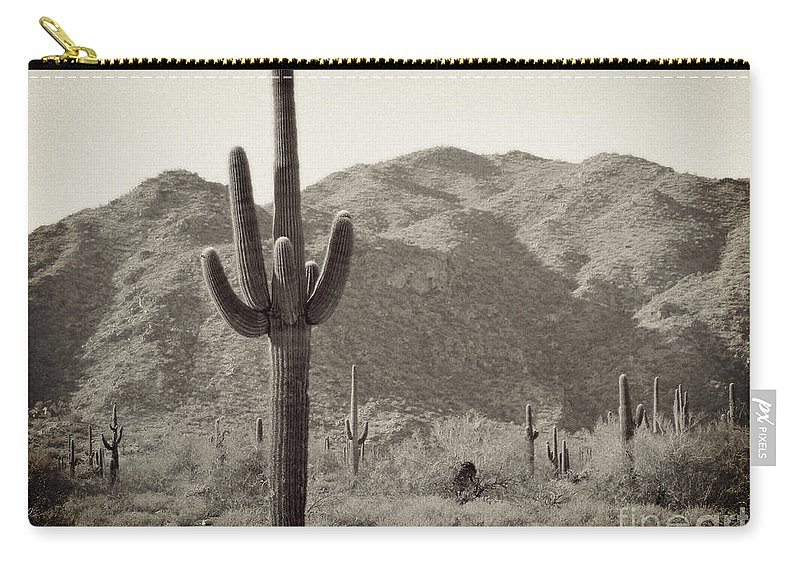 White Tank Sunset Carry-all Pouch featuring the photograph Arizona Desert by Methune Hively