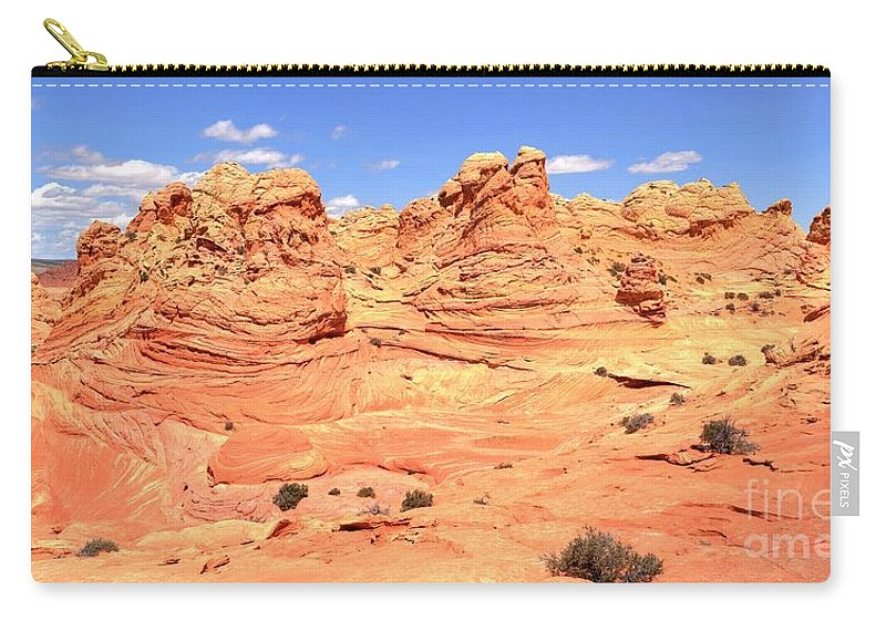 Vermilion Cliffs Panorama Carry-all Pouch featuring the photograph Arizona Desert Pastels by Adam Jewell