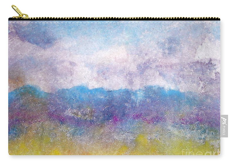 Abstract Carry-all Pouch featuring the painting Arizona Impressions by Jan Bennicoff