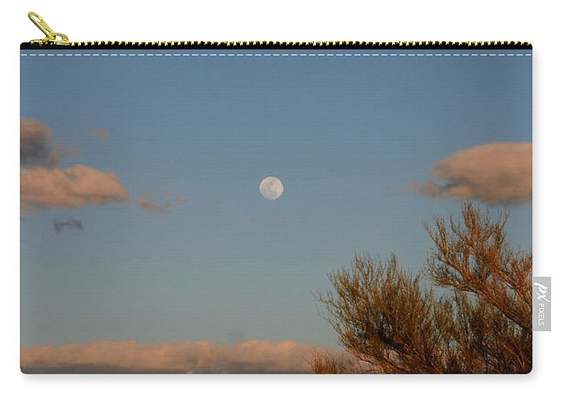 Arizona Carry-all Pouch featuring the photograph Arizona Moon II by Susanne Van Hulst
