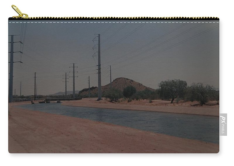 Arizona Carry-all Pouch featuring the photograph Arizona Waterway by Rob Hans