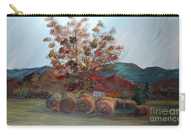 Autumn Carry-all Pouch featuring the painting Arkansas Autumn by Nadine Rippelmeyer