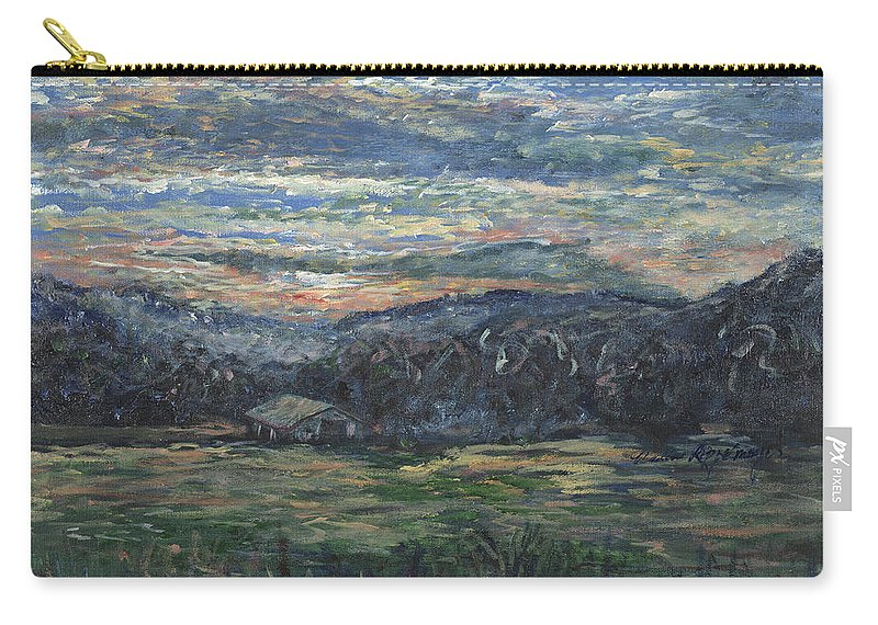 Impressionism Carry-all Pouch featuring the painting Arkansas Sunrise by Nadine Rippelmeyer