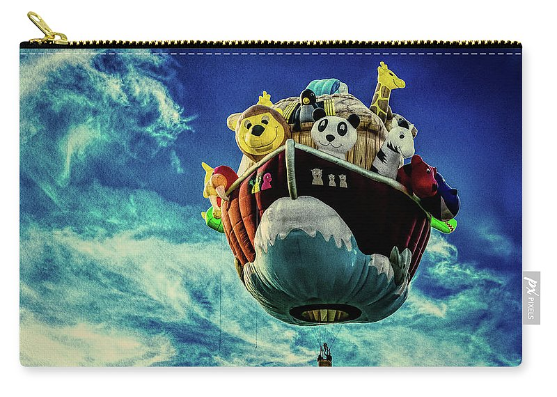 Arky Carry-all Pouch featuring the photograph Arky Noah's Ark by Bob Orsillo