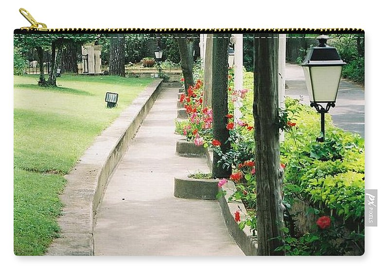 Arles Carry-all Pouch featuring the photograph Arles Walkway by Nadine Rippelmeyer