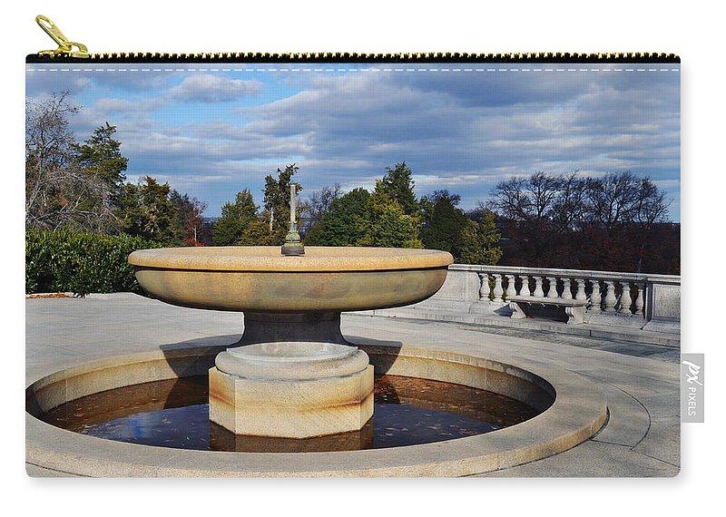 Arlington National Cemetery Carry-all Pouch featuring the photograph Arlington National Cemetery Memorial Fountain by Kyle Hanson