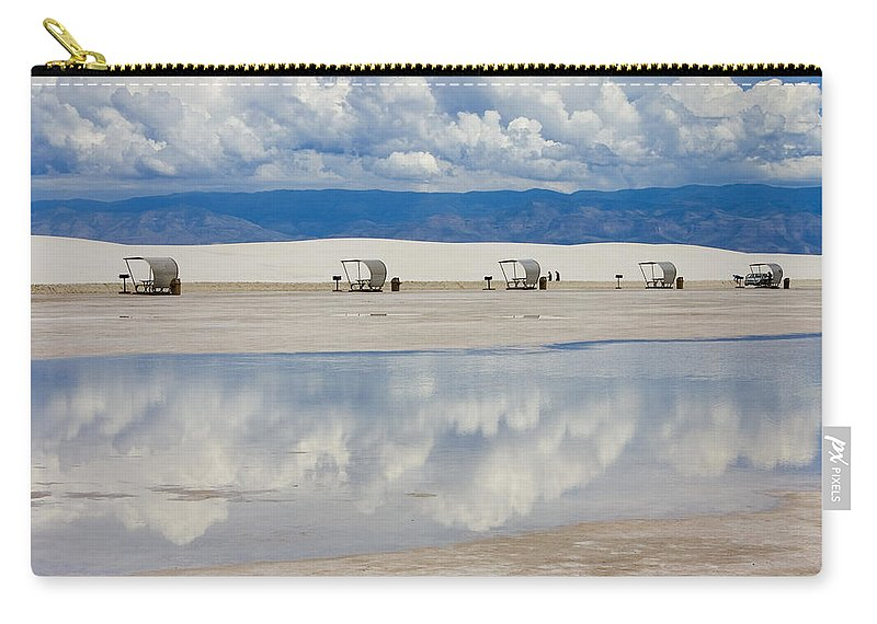 New Mexico Carry-all Pouch featuring the photograph Armageddon Picnic by Skip Hunt