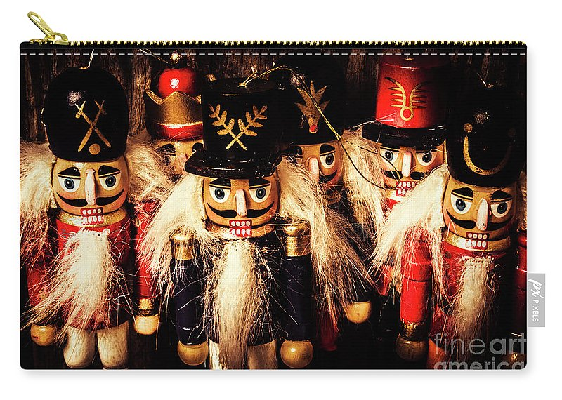 Guard Carry-all Pouch featuring the photograph Army Of Wooden Soldiers by Jorgo Photography - Wall Art Gallery