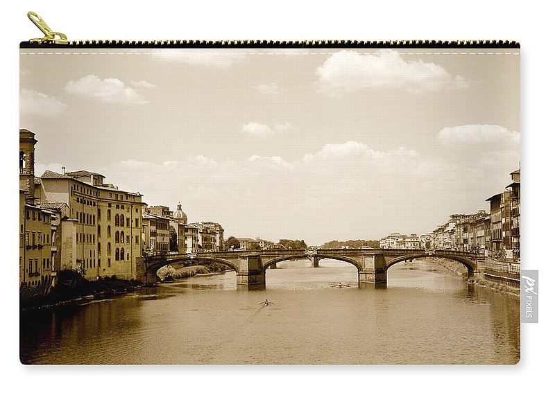 Italy Carry-all Pouch featuring the photograph Arno River Florence by Marilyn Hunt