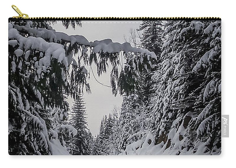 Winter Carry-all Pouch featuring the photograph Around The Bend by Albert Seger