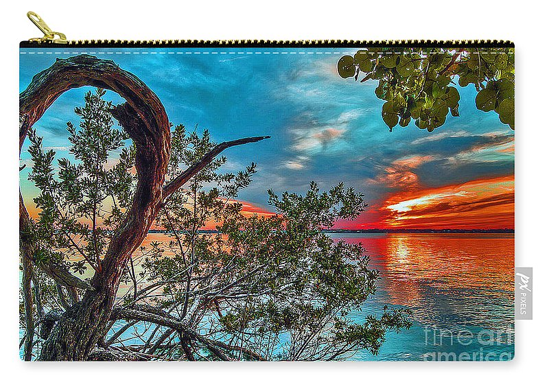 Sunrise Carry-all Pouch featuring the photograph Around The Bend by Davids Digits