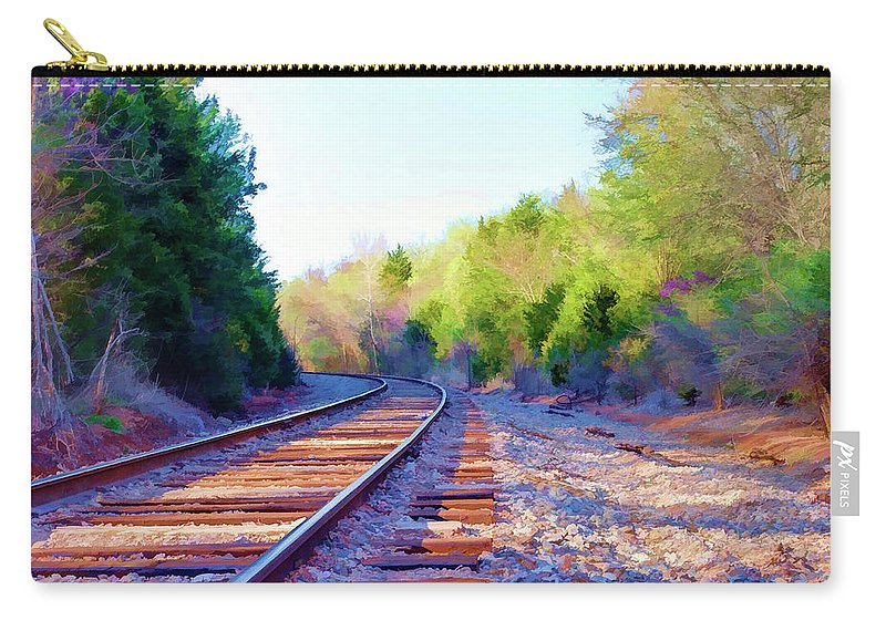 Railroad Carry-all Pouch featuring the photograph Around The Bend by Ricky Barnard