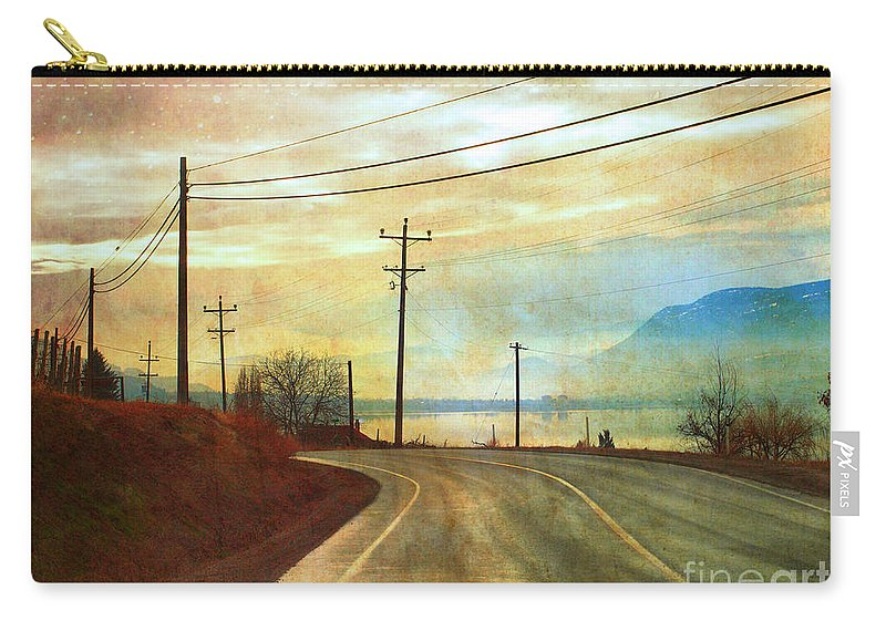 Road Carry-all Pouch featuring the photograph Around The Bend by Tara Turner