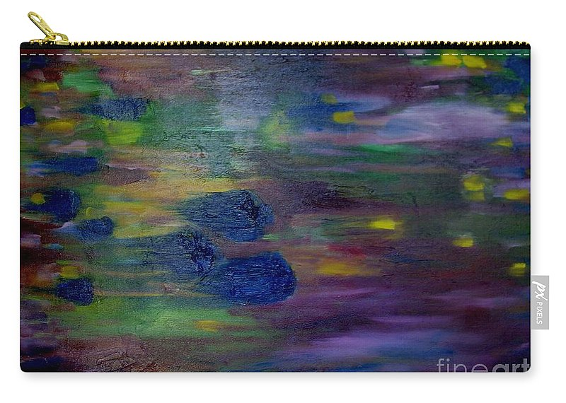 Abstract Carry-all Pouch featuring the painting Around The Worlds by Laurie Morgan