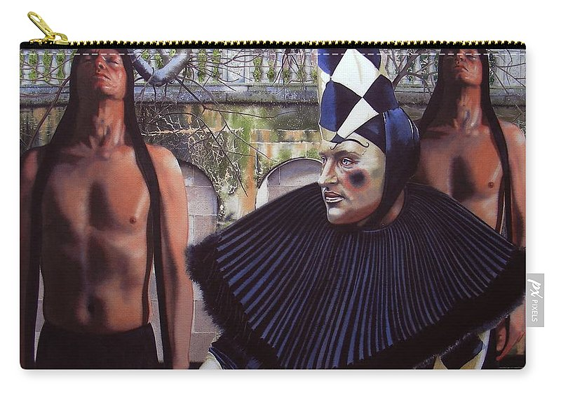 Male Figurative Carry-all Pouch featuring the painting Arousing Suspicion by Denny Bond