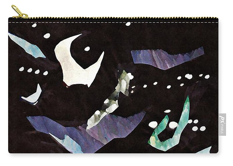 Floral Carry-all Pouch featuring the mixed media Arrangement In The Abstract 2 by Sarah Loft