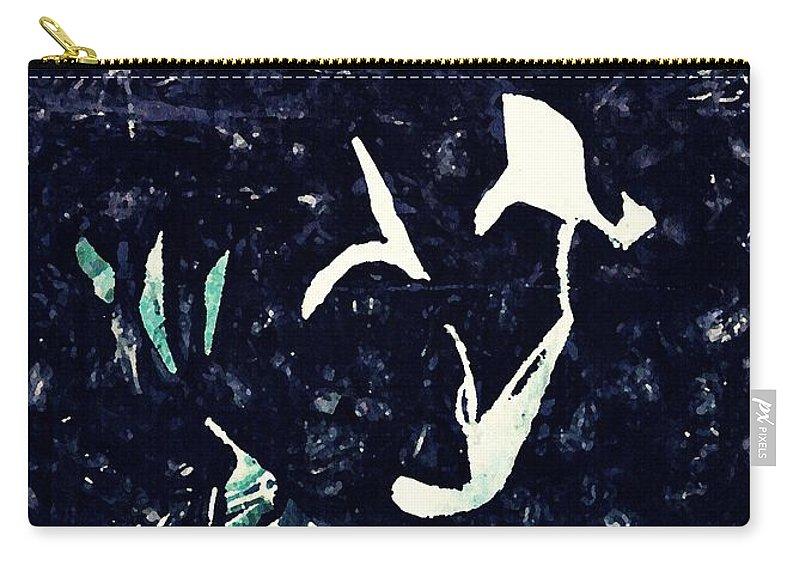 Floral Carry-all Pouch featuring the mixed media Arrangement In The Abstract by Sarah Loft