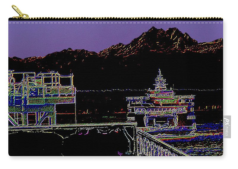 Seattle Carry-all Pouch featuring the photograph Arrival by Tim Allen