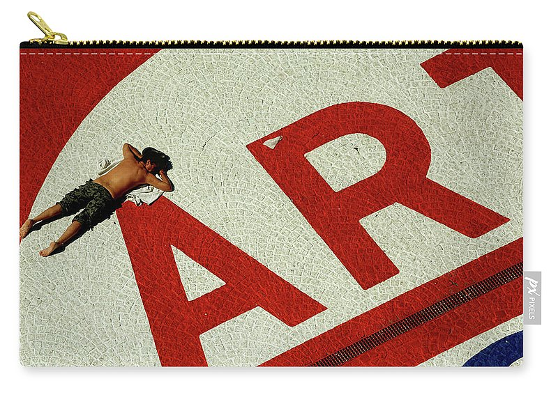 People Carry-all Pouch featuring the photograph Art by David Gilbert