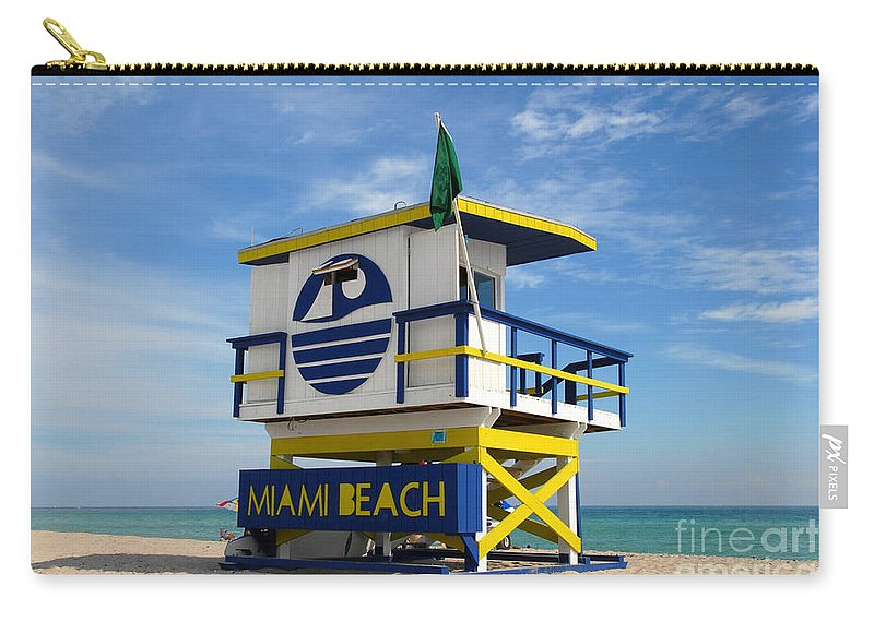 Miami Beach Carry-all Pouch featuring the photograph Art Deco Lifeguard Stand by David Lee Thompson