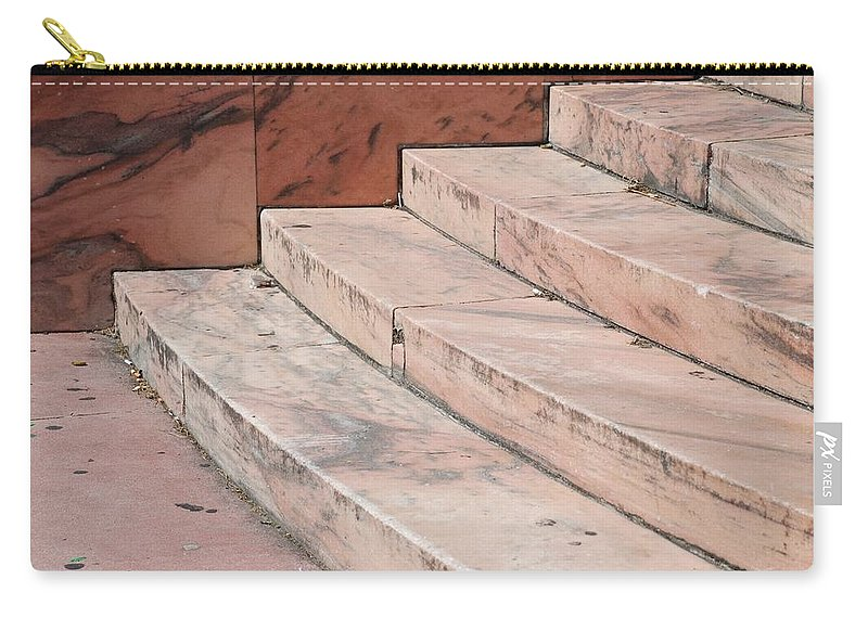 Architecture Carry-all Pouch featuring the photograph Art Deco Steps by Rob Hans