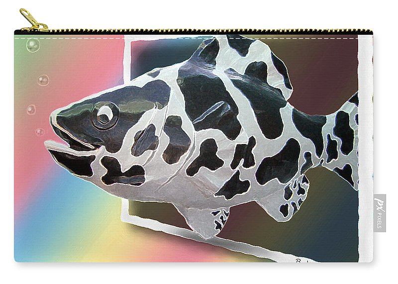 2d Carry-all Pouch featuring the photograph Art Fish Fun by Brian Wallace