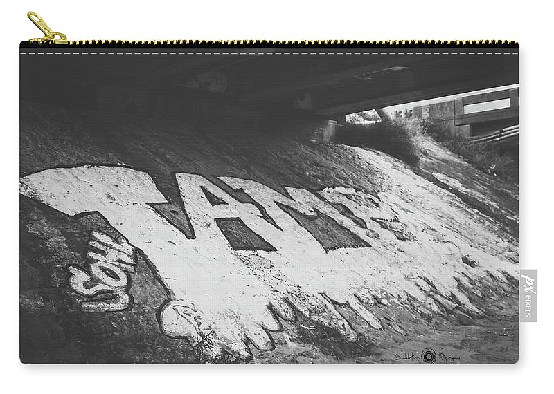 Graffiti Carry-all Pouch featuring the photograph Art by Gaddeline Figueroa