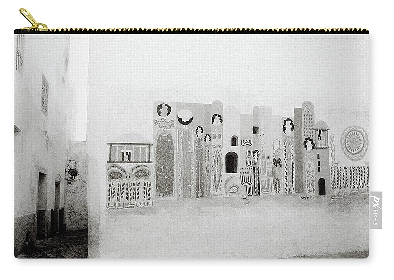 Graffiti Carry-all Pouch featuring the photograph Art In The Casbah by Shaun Higson