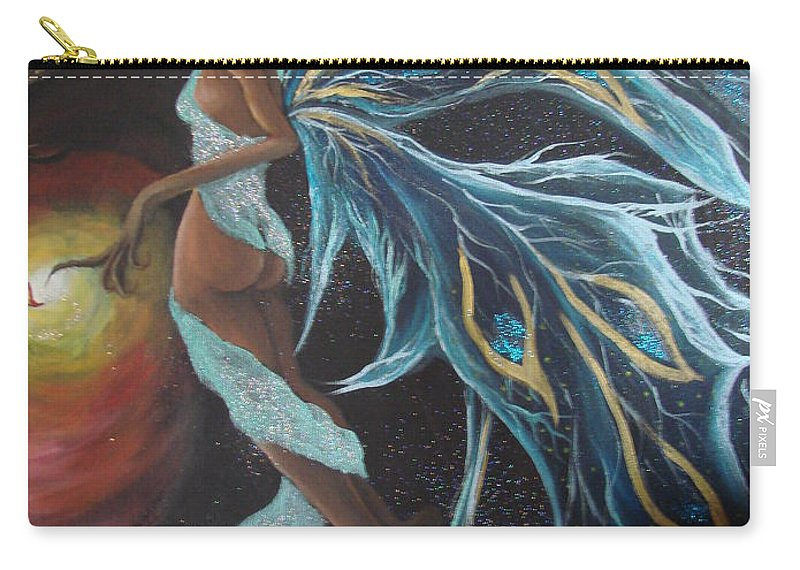 Figure Carry-all Pouch featuring the painting Art Is Magic by Glory Fraulein Wolfe